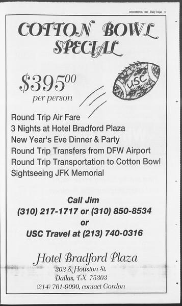 Daily Trojan, Vol. 123, No. 66, December 08, 1994