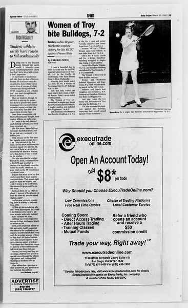 Daily Trojan, Vol. 139, No. 42, March 23, 2000