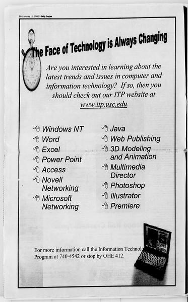 Daily Trojan, Vol. 139, No. 1, January 11, 2000
