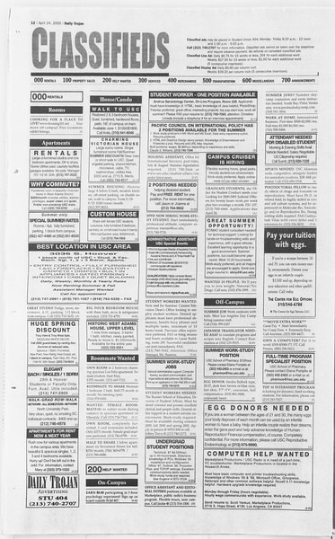 Daily Trojan, Vol. 139, No. 64, April 24, 2000