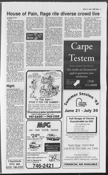 Daily Trojan, Vol. 119, No. 62, April 21, 1993