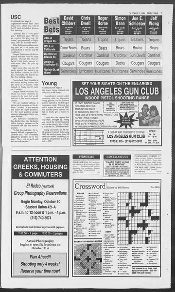 Daily Trojan, Vol. 123, No. 26, October 07, 1994