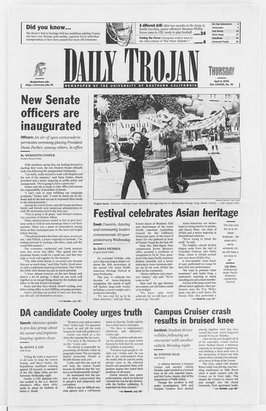 Daily Trojan, Vol. 139, No. 52, April 06, 2000