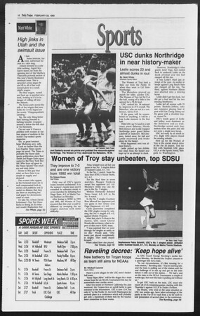 Daily Trojan, Vol. 119, No. 27, February 23, 1993