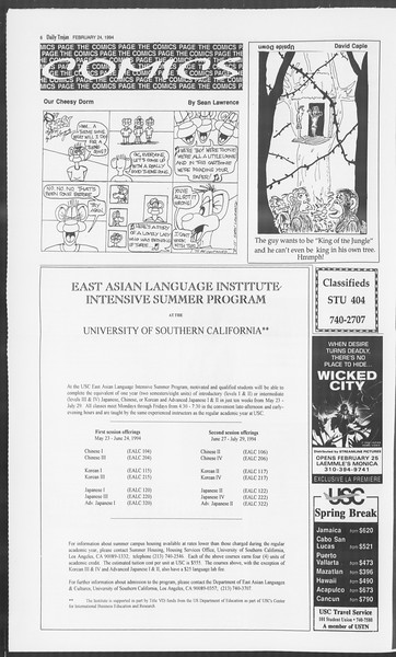 Daily Trojan, Vol. 122, No. 29, February 24, 1994