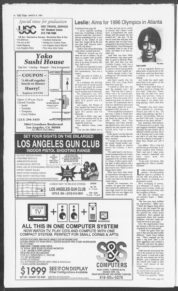 Daily Trojan, Vol. 122, No. 38, March 09, 1994