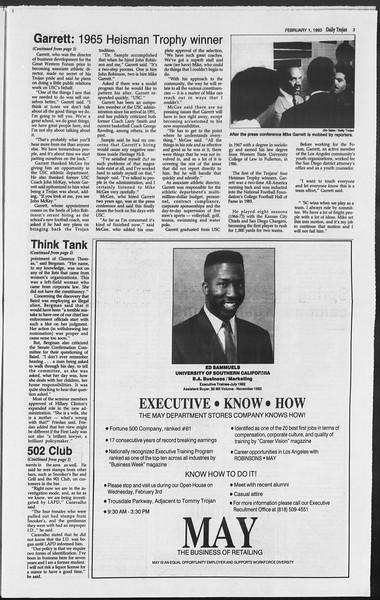 Daily Trojan, Vol. 119, No. 13, February 01, 1993
