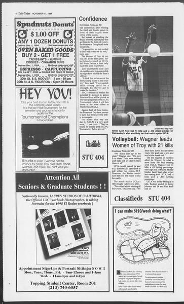 Daily Trojan, Vol. 123, No. 55, November 17, 1994