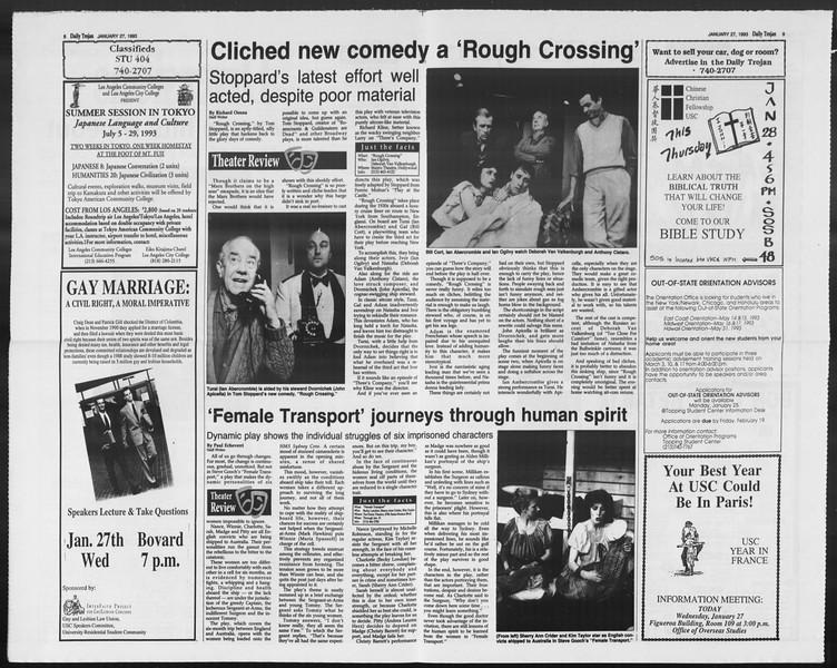 Daily Trojan, Vol. 119, No. 10, January 27, 1993