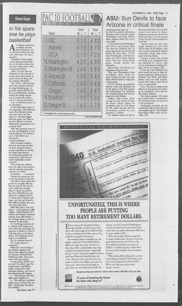 Daily Trojan, Vol. 121, No. 49, November 09, 1993