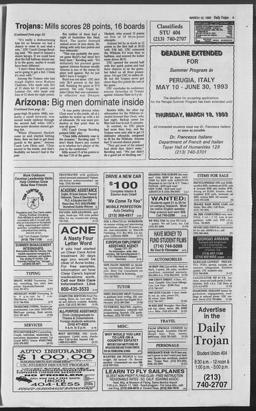 Daily Trojan, Vol. 119, No. 40, March 12, 1993
