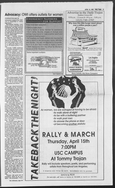 Daily Trojan, Vol. 119, No. 58, April 15, 1993
