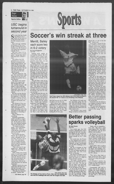 Daily Trojan, Vol. 123, No. 12, September 19, 1994