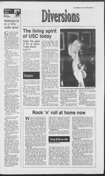 Daily Trojan, Vol. 123, No. 20, September 29, 1994