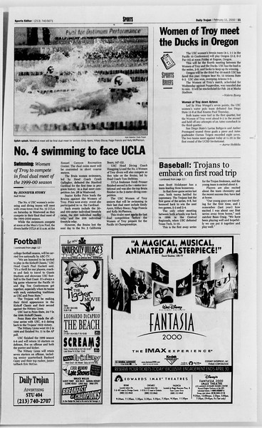 Daily Trojan, Vol. 139, No. 22, February 11, 2000