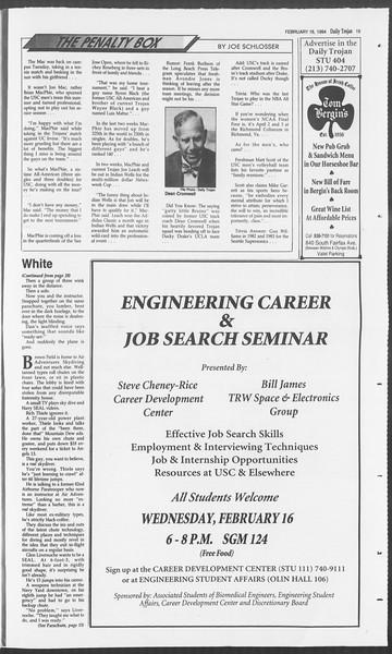 Daily Trojan, Vol. 122, No. 25, February 16, 1994