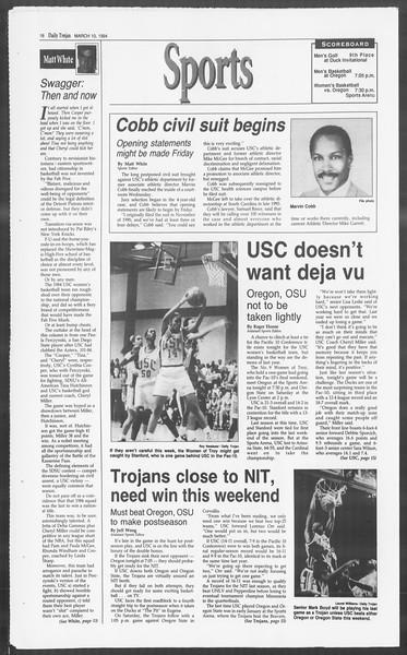 Daily Trojan, Vol. 122, No. 39, March 10, 1994