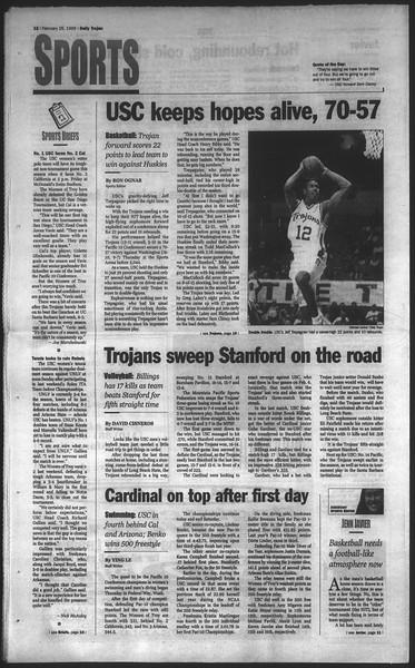 Daily Trojan, Vol. 136, No. 28, February 26, 1999