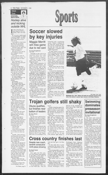 Daily Trojan, Vol. 123, No. 42, November 01, 1994