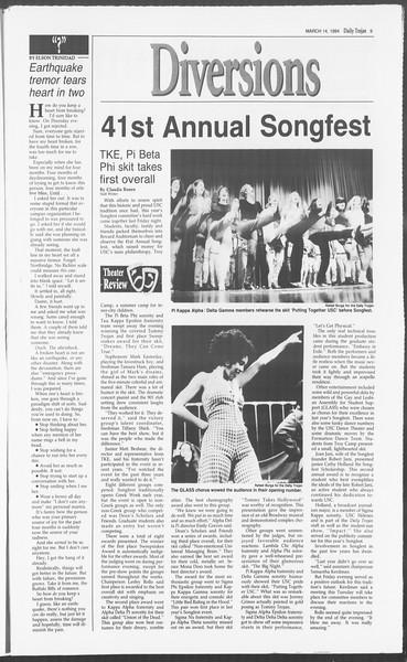 Daily Trojan, Vol. 122, No. 41, March 14, 1994