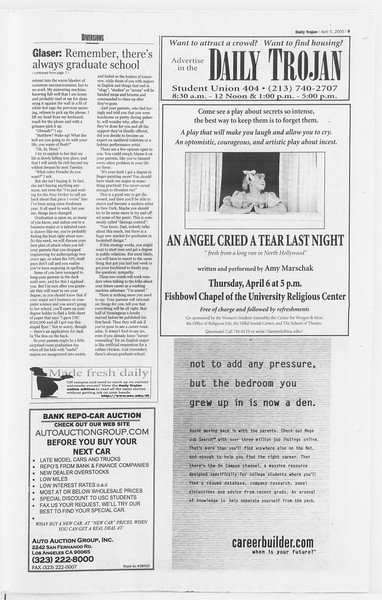 Daily Trojan, Vol. 139, No. 51, April 05, 2000