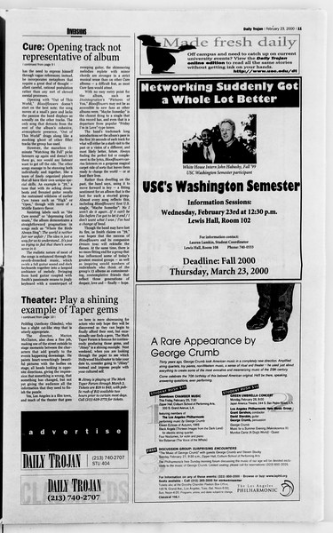 Daily Trojan, Vol. 139, No. 28, February 23, 2000
