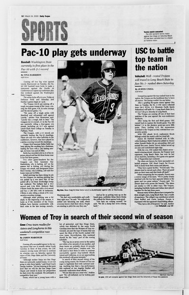 Daily Trojan, Vol. 139, No. 43, March 24, 2000