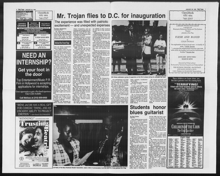 Daily Trojan, Vol. 119, No. 12, January 29, 1993