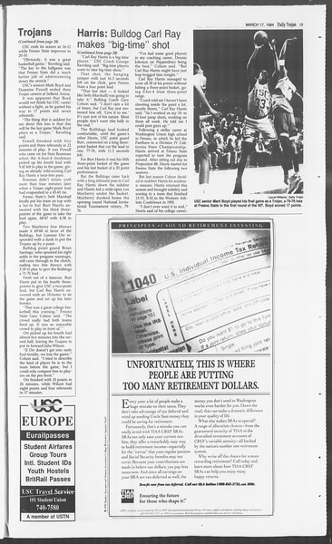 Daily Trojan, Vol. 122, No. 44, March 17, 1994
