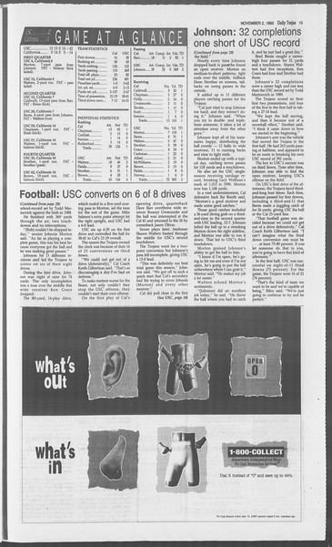 Daily Trojan, Vol. 121, No. 44, November 02, 1993