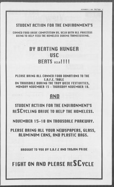 Daily Trojan, Vol. 121, No. 51, November 11, 1993