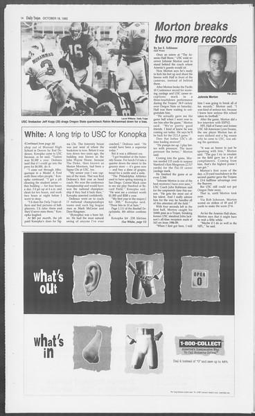 Daily Trojan, Vol. 121, No. 34, October 18, 1993