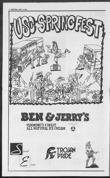 Daily Trojan, Vol. 119, No. 58, April 15, 1993