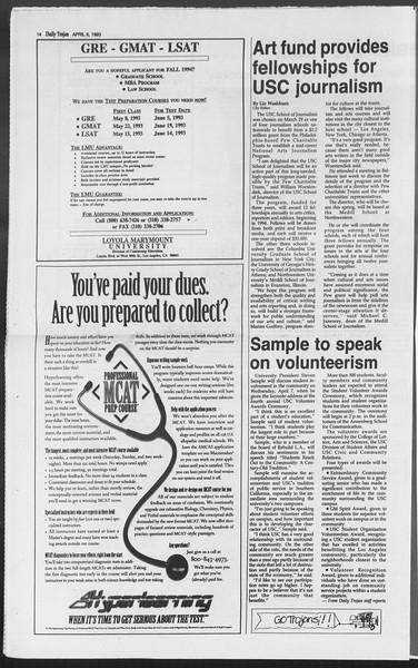 Daily Trojan, Vol. 119, No. 51, April 06, 1993