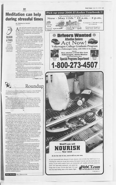 Daily Trojan, Vol. 139, No. 65, April 25, 2000
