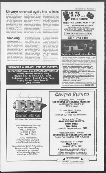Daily Trojan, Vol. 123, No. 43, November 02, 1994