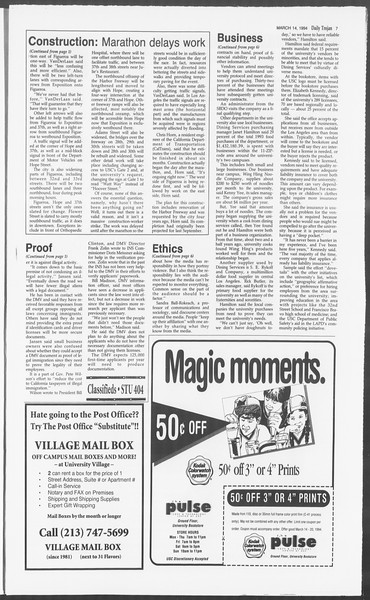 Daily Trojan, Vol. 122, No. 41, March 14, 1994