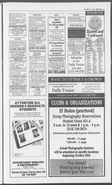 Daily Trojan, Vol. 121, No. 37, October 21, 1993