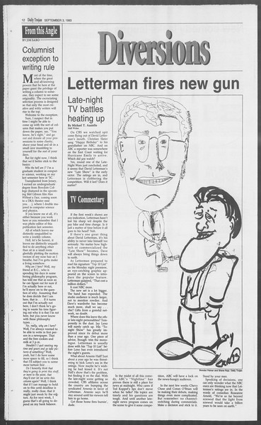 Daily Trojan, Vol. 121, No. 5, September 03, 1993