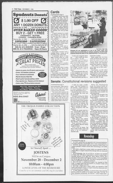 Daily Trojan, Vol. 123, No. 61, December 01, 1994