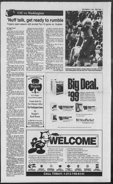 Daily Trojan, Vol. 123, No. 3, September 02, 1994