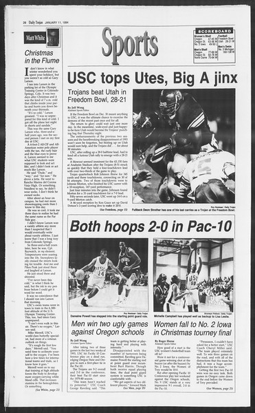 Daily Trojan, Vol. 122, No. 1, January 11, 1994