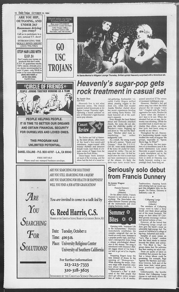 Daily Trojan, Vol. 123, No. 27, October 10, 1994