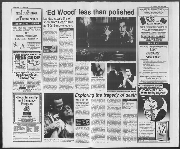 Daily Trojan, Vol. 123, No. 24, October 05, 1994
