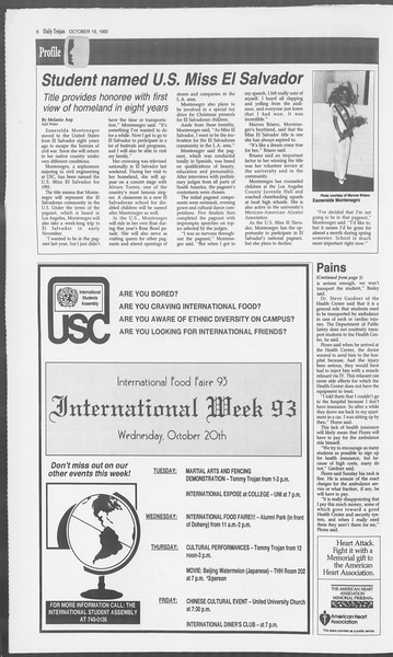 Daily Trojan, Vol. 121, No. 35, October 19, 1993