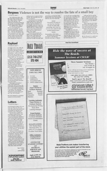 Daily Trojan, Vol. 139, No. 64, April 24, 2000