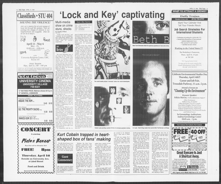 Daily Trojan, Vol. 122, No. 57, April 13, 1994
