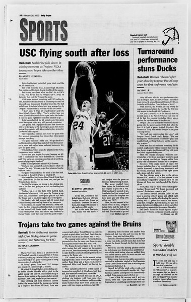 Daily Trojan, Vol. 139, No. 31, February 28, 2000