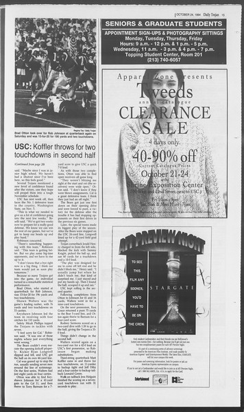Daily Trojan, Vol. 123, No. 36, October 24, 1994