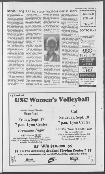 Daily Trojan, Vol. 121, No. 11, September 15, 1993